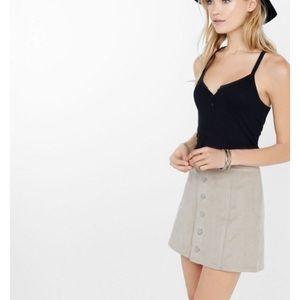 Express light brown suede skirt